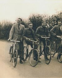 Group of German internee cyclists Paul Störmer  2nd from right